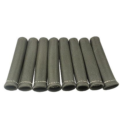 Spark Plug Wire Heat Shield | Amazon Com Jdmspeed 8 Black 1200 Spark Plug Wire Boots Heat Shield