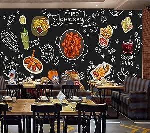 Papel Pintado Grande Negro Pintado A Mano Cocina Coreana