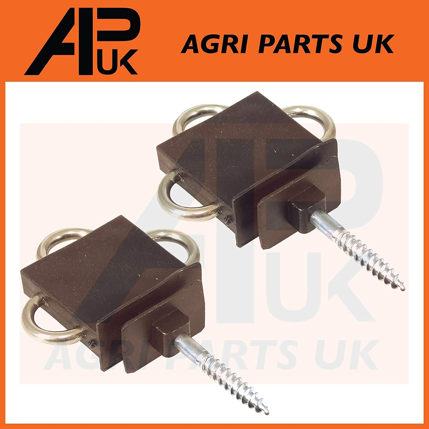 APUK 2x Three 3-Way Electric Fence Gate Handle Insulator Connection Connector