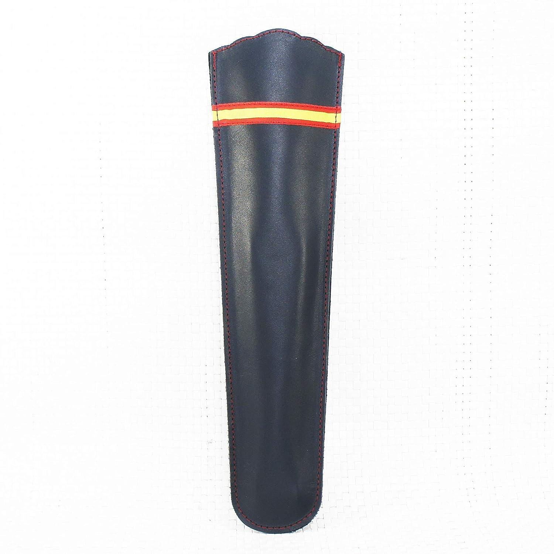 Funda de abanico de piel negra con cinta de la bandera española. Estuche abanico con bandera española: Amazon.es: Handmade