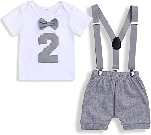 Ready To Post Boys 1st Birthday Cake Smash Outfit Grey White Star