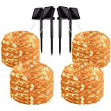 Gluckluz Solar String Lights 200 LED Outdoor Copper Wire Light Fairy Lighting Waterproof Starry Decoration Light for…
