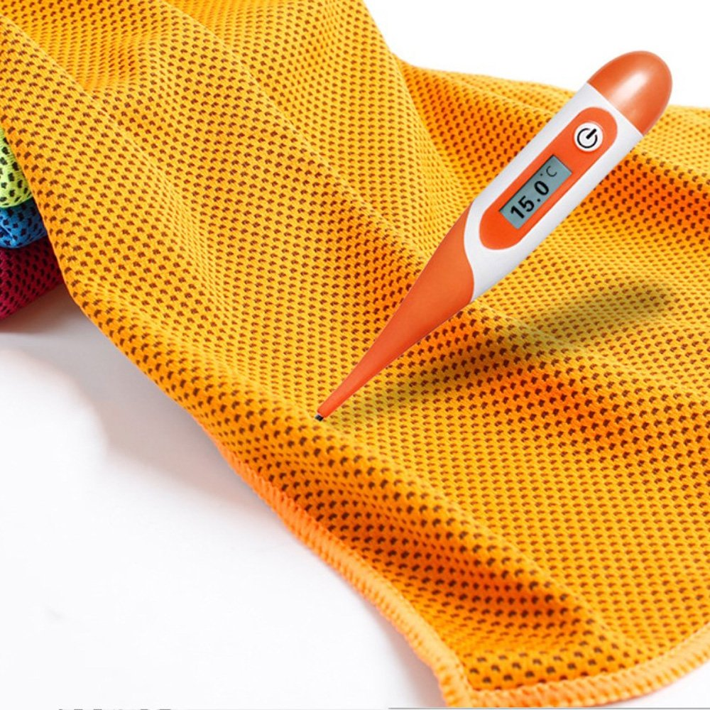 das Sport magisches EIS-abk/ühlendes Tuch h/ält halten K/örperk/ühlung LIUYUNE,Polyester-Gewebe Color:GRAU