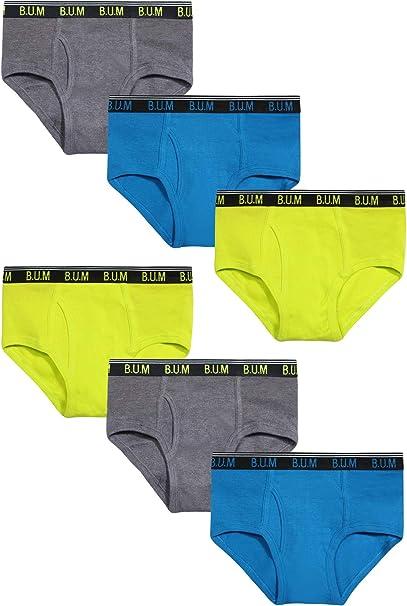 Equipment Boys 6 Pack Solid Underwear Briefs B.U.M