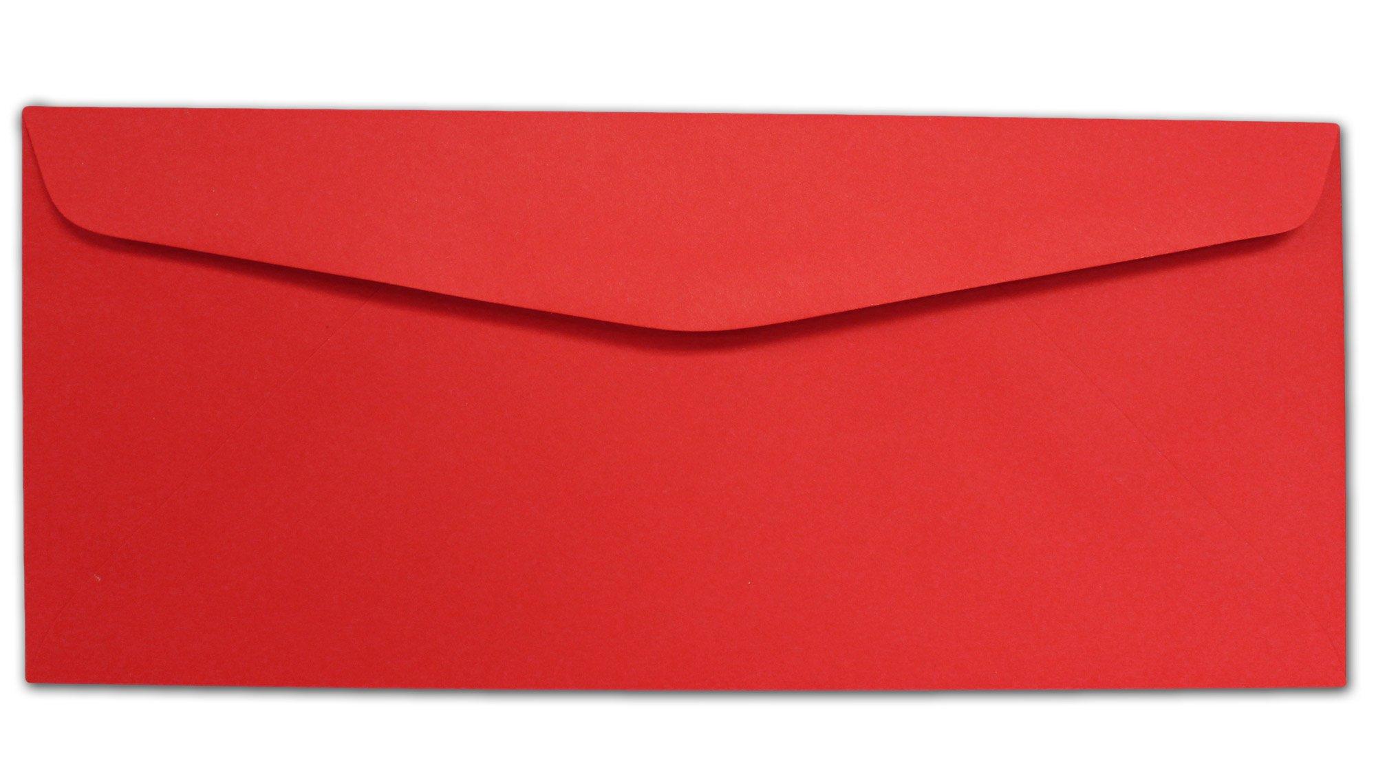 Red #10 Envelopes - 100 Envelopes - Desktop Publishing Supplies Brand Envelopes