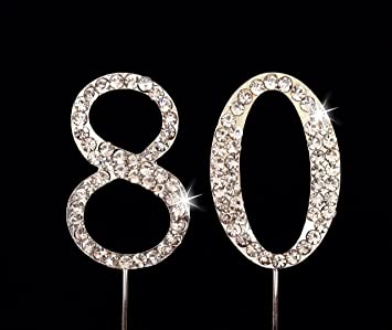 Amazoncom 80th Birthday Wedding Anniversary Number Cake Topper