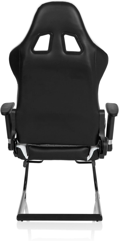 dossier haut et assise confortable gr/âce /à son rembourrage /épais et souple hjh OFFICE 621770 fauteuil gamer chaise gaming /à roulettes RACER COMPACT marron//noir avec accoudoirs escamotables