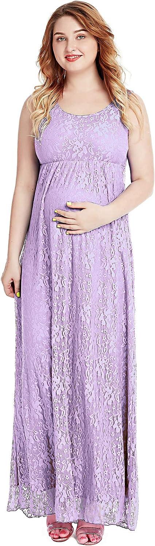 Women's Maternity Dress Sleeveless Baby Shower Lace Dresses
