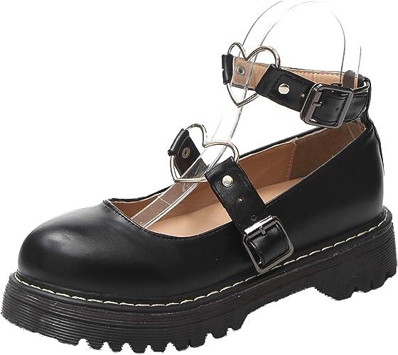 Women patent leather Round toe Mary Jane Lolita Flats Criss-cross Strap Shoes