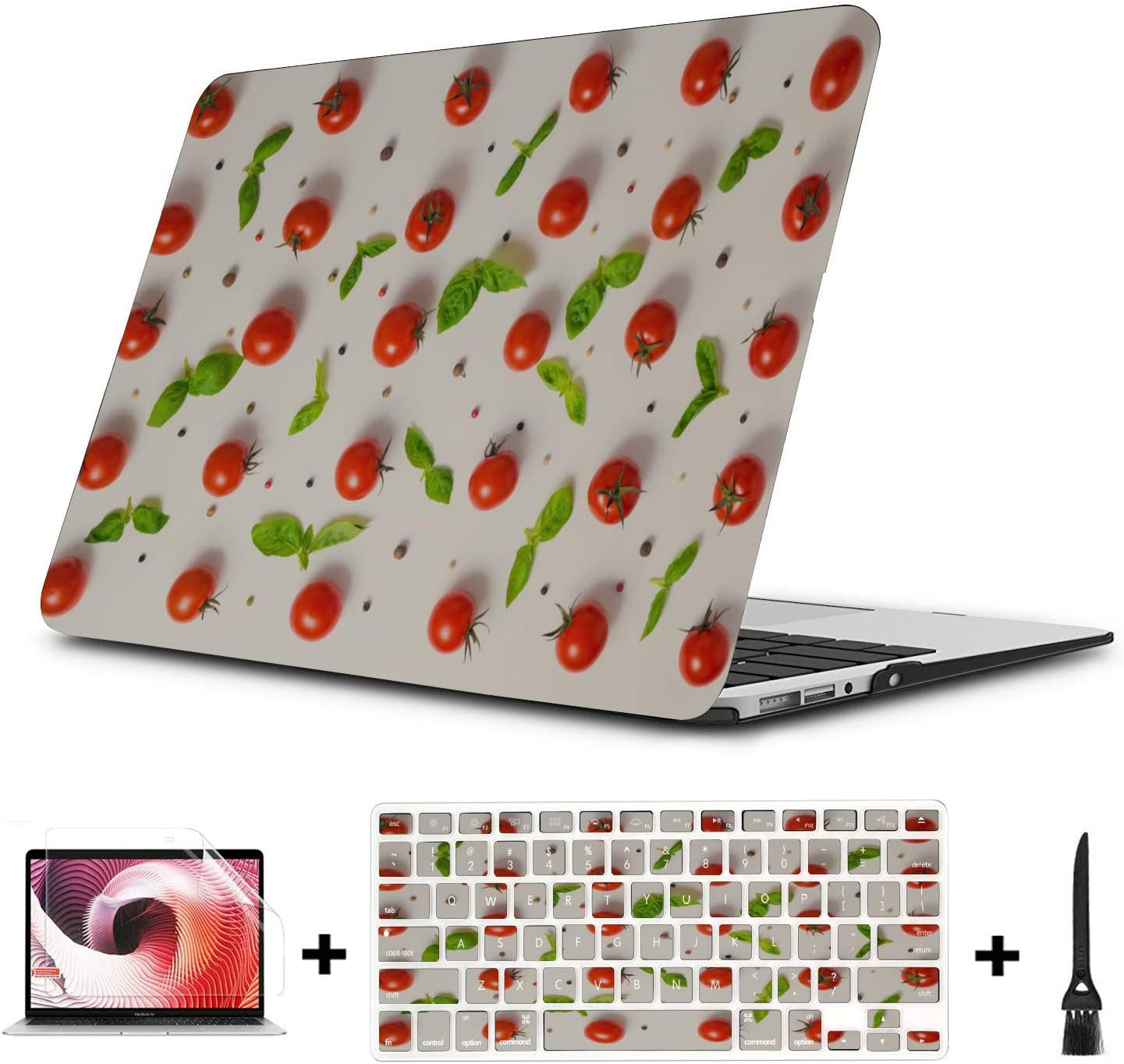 MacBook Pro Laptop Summer Small Fruit Vegetable Tomato Plastic Hard Shell Compatible Mac Air 11 Pro 13 15 MacBook Pro Case 2018 Protection for MacBook 2016-2019 Version