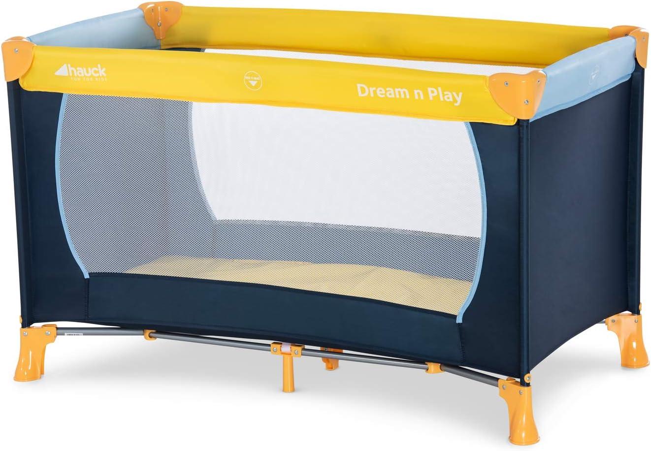 Hauck Dream N Play Lit Parapluie 3 Pièces 120 x 60 cm Naissance à 15 kg Berceau Pliable Bébé
