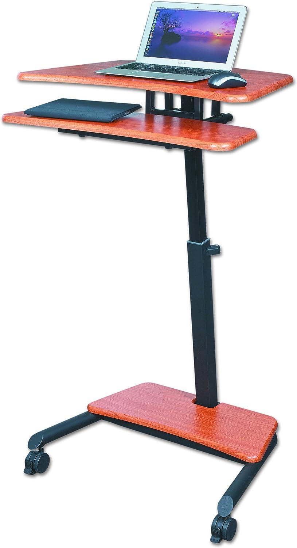 Balt Up-Rite Workstation Sit Stand Desk, Height Adjustable, , Cherry, 28.5 – 45.5 H x 27.5 W x 22.5 D