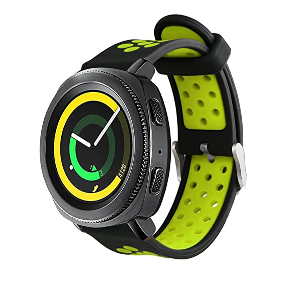 Uption Gear Sport Band/Gear S2 Classic Bands, 20mm Soft Silicone Watch Band Breathable Replacement Strap for Samsung Gear Sport/Gear S2 Classic Smart ...