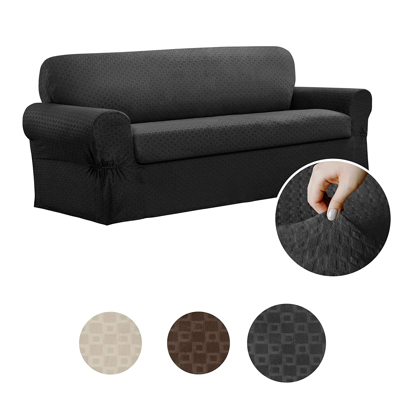 Maytex Conrad 2-Piece Sofa Furniture Cover / Slipcover, Sofa, Charcoal