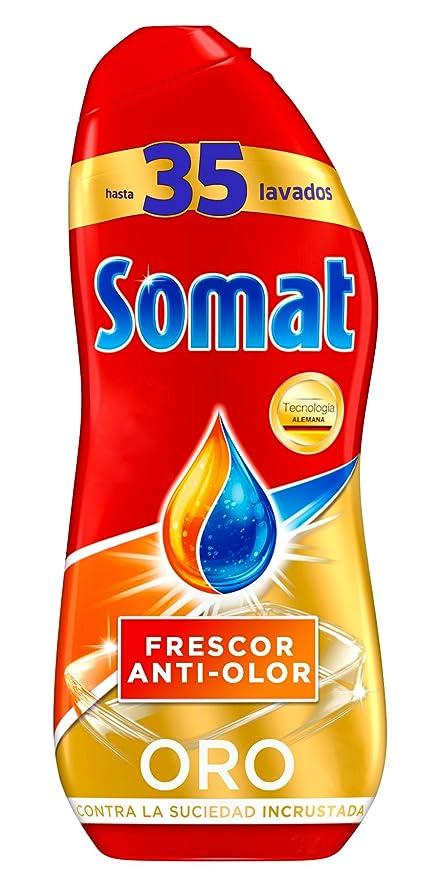 Somat Detergente Gel Lavavajillas Frescor Antiolor 2x35D
