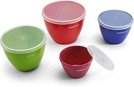 Assorted Set of 4 Farberware Colourworks Plastic Measuring Cup Set