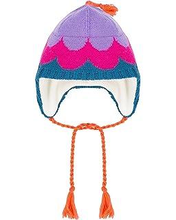 Deux par Deux Girls Ear-Flap Hat Confetti Garden Purple Sizes 2-14