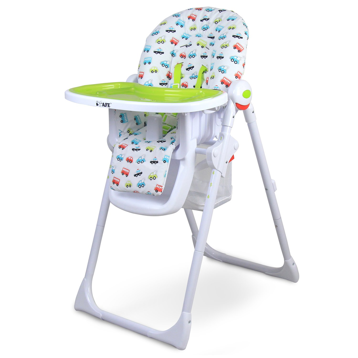 iSafe MAMA Highchair Vrooom Recline pact Padded Baby High Low