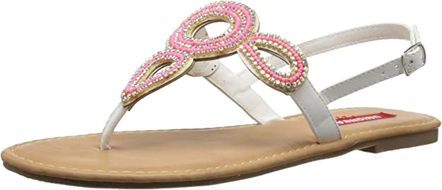 U-Pick 8 or 9 Unionbay Allen Beaded Thong Slingback Tan Sandals Shoes FREE S/&H