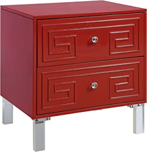 Furniture of America Jemma Side Table, Red