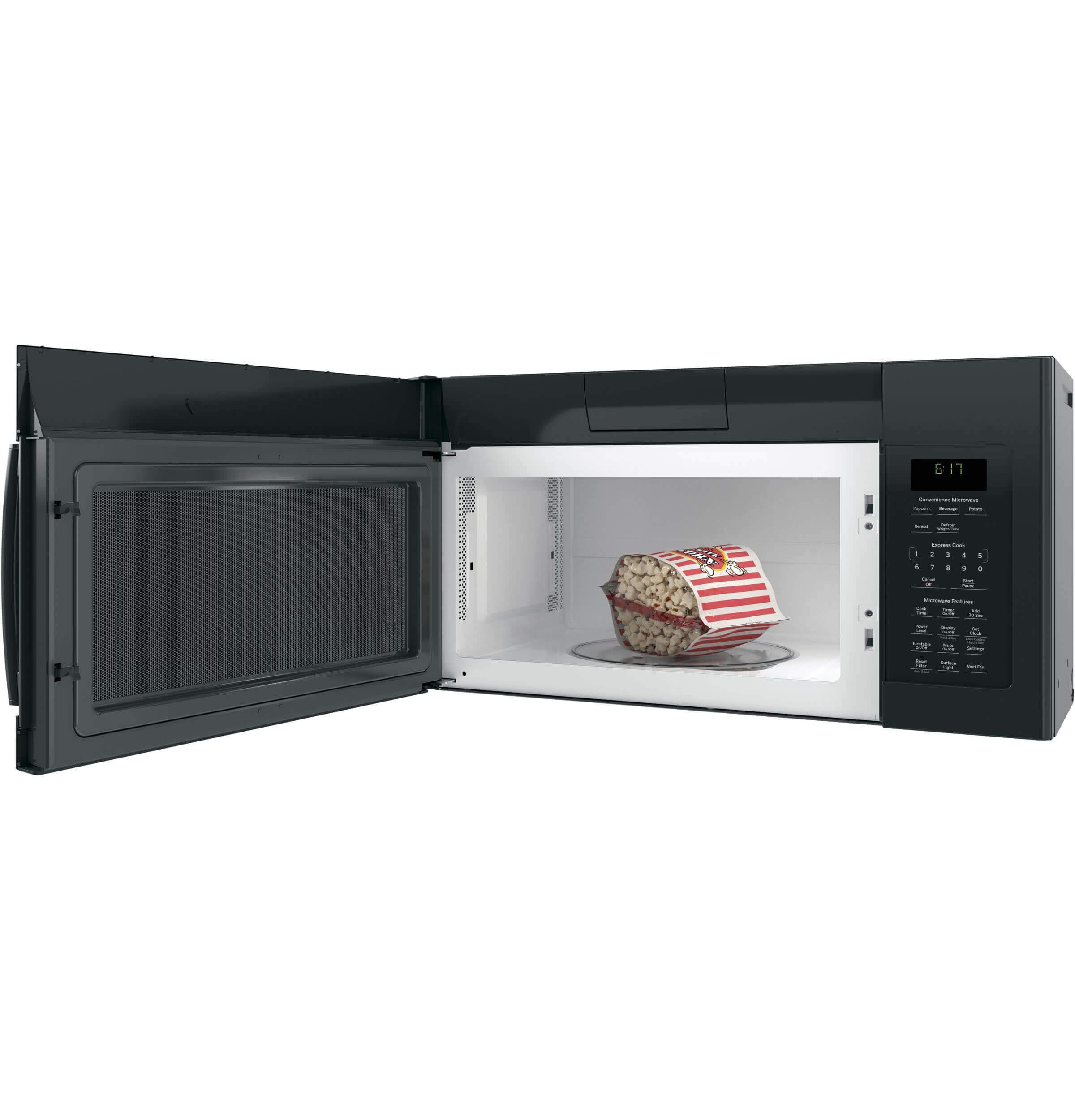 GE JVM6172DKBB Over-the- Over-the-Range Microwave, 1.7, Black by GE (Image #8)