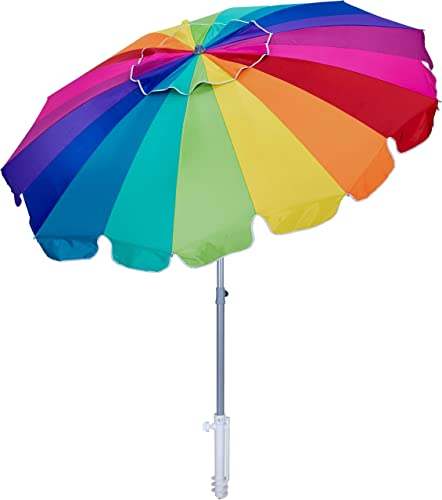 AMMSUN 7.5ft Beach Umbrella