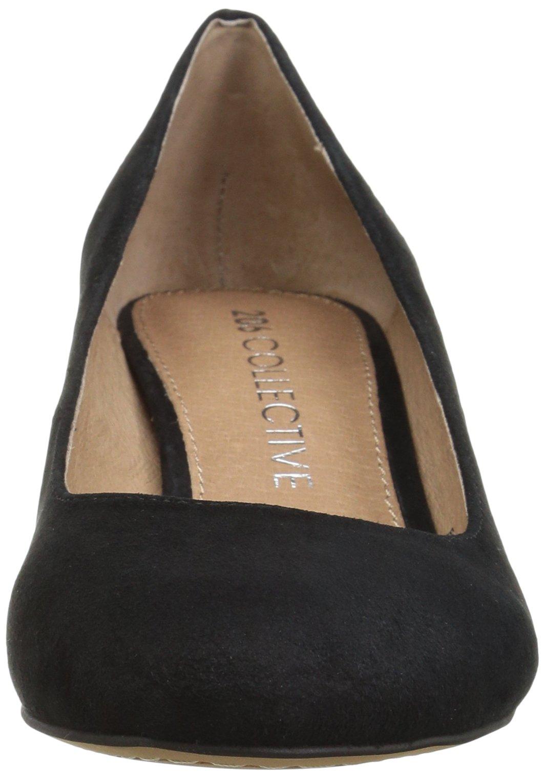 206 Collective Women's Merritt Round Toe Block Heel Low Pump, Black Suede, 7.5 B US by 206 Collective (Image #4)