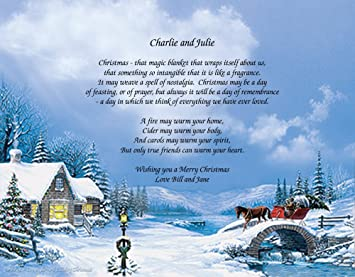 Country Christmas Background.Amazon Com Personalized Poetry Gift Christmas On Country