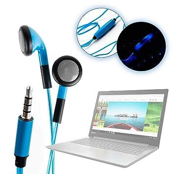DURAGADGET Auriculares In-Ear con Luz LED Azul para Portátil ...
