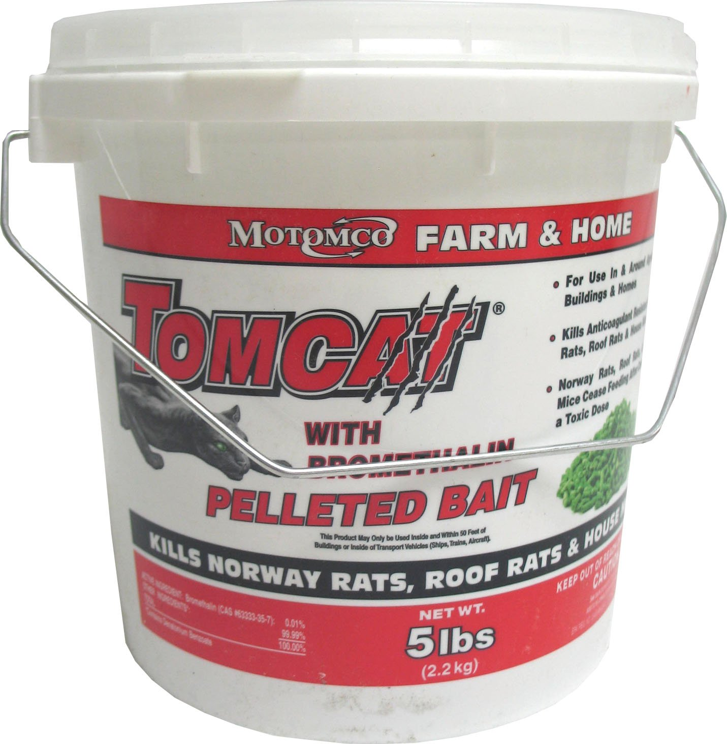 Motomco Tomcat Mouse and Rat Bromethalin Pellets, 5-Pound by Motomco