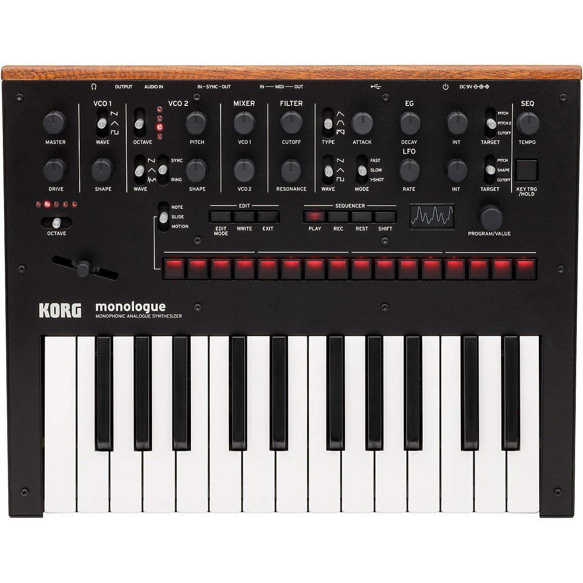 Korg Monologue Monophonic Analog Synthesizer with Presets-Black (MONOLOGUEBK) (Renewed)