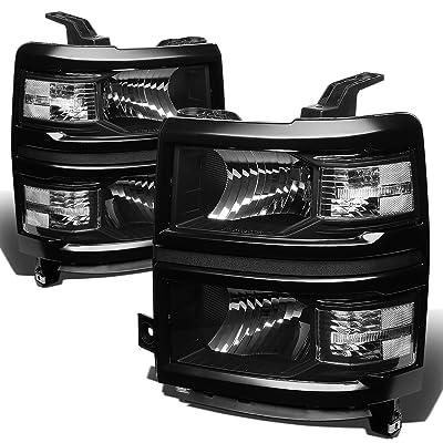 DNA Motoring HL-OH-CSIL14-BK-CL1 Headlight Assembly (Driver & Passenger Side),Black clear: Automotive