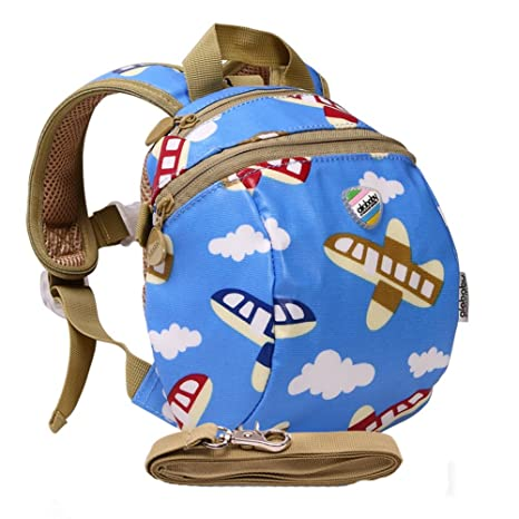 c12b101d40 Moonwind Waterproof Kids Toddler Harness Backpack Children Baby Safety Bag  with Leash (Airplane)  Amazon.co.uk  Luggage