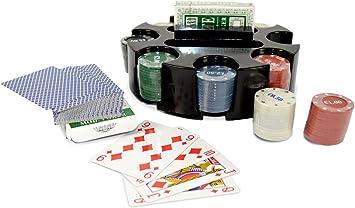 027035 Set juego de poker CIGIOKI 2 barajas de cartas y 96 fichas ...