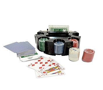 027035 Set juego de poker CIGIOKI 2 barajas de cartas y 96 ...