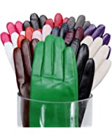 MATSU Simple Sytle Women Winter Warm Lambskin Leather Gloves 7 Colors M9022