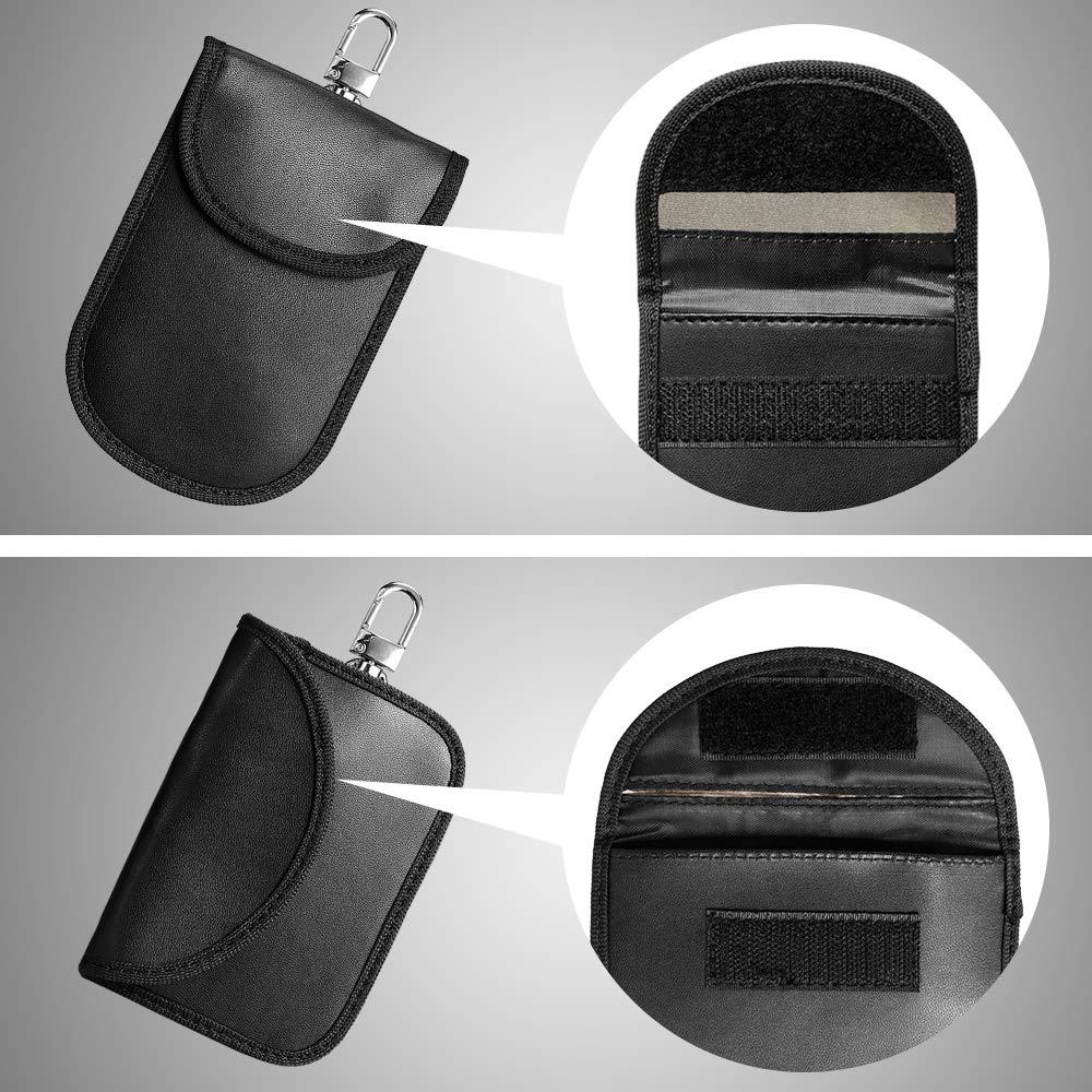 RFID Keyless Go Schutz Autoschl/üssel Strahlenschutz Tasche Handy keyless go Schutz Abschirmung RFID KFZ 2 PCS Diebstahlschutz RFID Schl/üsselh/ülle Kfz Keyless Go Entry Open Tasche