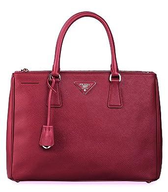 c5ecad4501f1 Prada Women's Tote Bag Saffiano Leather in Cerise Style 2274: Amazon.co.uk:  Clothing