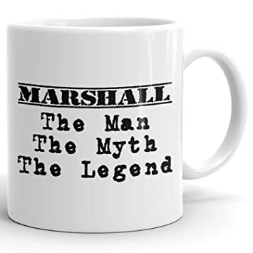 Marshall Coffee Mug Tazas Personalizadas con Nombres- The Man the Myth the Legend - Best