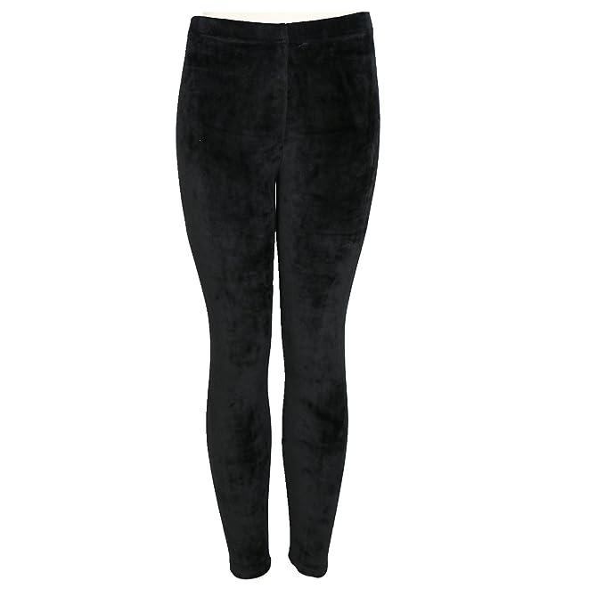 383aa0773bedd TD Collections Women's Velvet Leggings - Ultra Soft Pants - Elastic Waist  Band - Skinny Pants