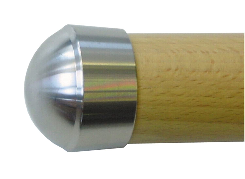 TREBA / FREWA Endkappe V2A / Edelstahl für Holzhandlauf Ø42,4 mm, 1 Stück, E9 1 Stück