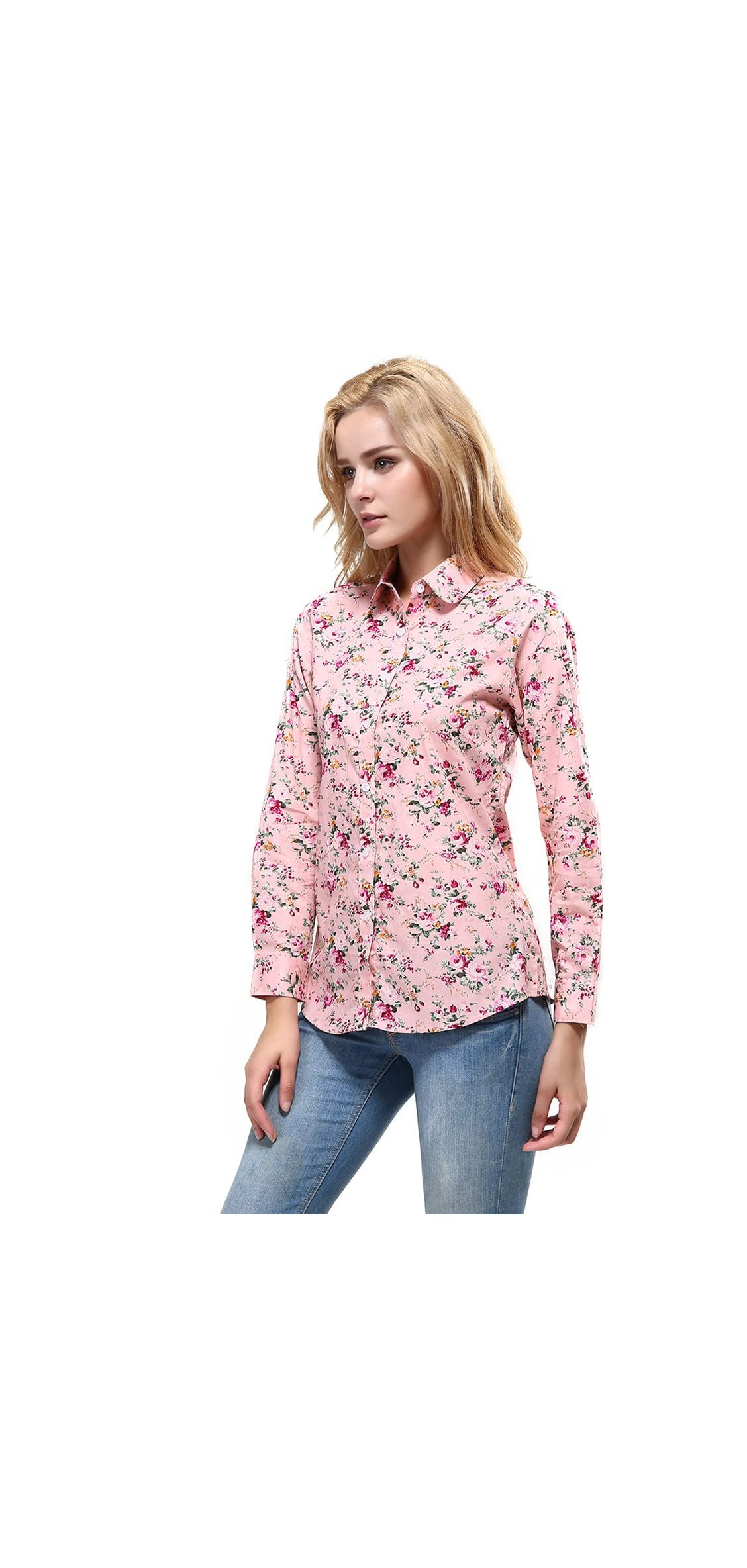 Women's Fashion Feminine Tops Blouse Work Button Down