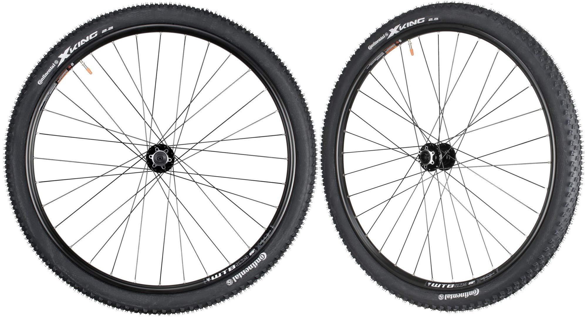 WTB SX19 Mountain Bike Wheelset 29'' Continental Tires Novatec Hubs Front 15mm Rear QR