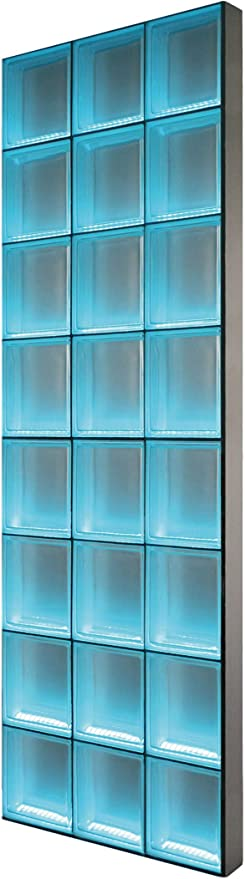 BPM Light My Wall piedra de cristal de la pared de ladrillos de vidrio iluminado en el formato 24 x 8 cm tamaño total: B 73,5 x H 196,0 cm: Amazon.es: Bricolaje y herramientas