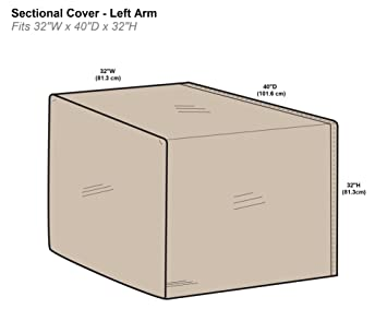 Protective Covers Inc. Modular Sectional Sofa Cover, Left Arm Piece,  32u0026quot;W