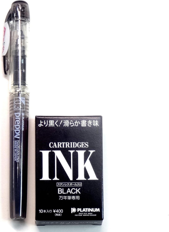 Preppy 0.2 mm Black PSQ-400 1 New Version 2018 Platinum Fountain Pen