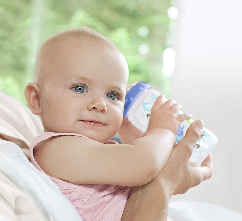 Sans BPA NUK Kit de 3 Biberons Cristal First Choice+ neutre et 2 T/étines anti colique Silicone 300ml 0-6 Mois