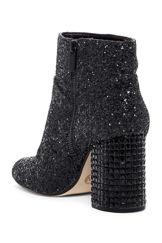 40c424d4e64d8 MICHAEL Michael Kors Arabella Ankle Boot (Black Chunky Glitter/Black  Stones) Women's Pull-on Boots