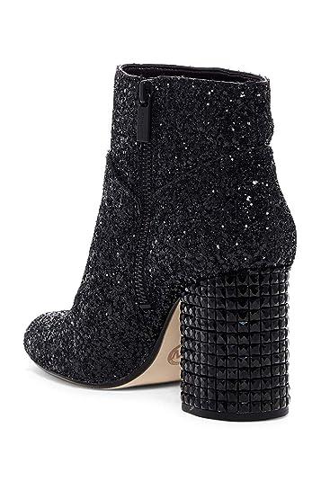 1448d3b0a772 Michael Michael Kors Arabella Ankle Boot (Black Chunky Glitter/Black  Stones) Women's Pull
