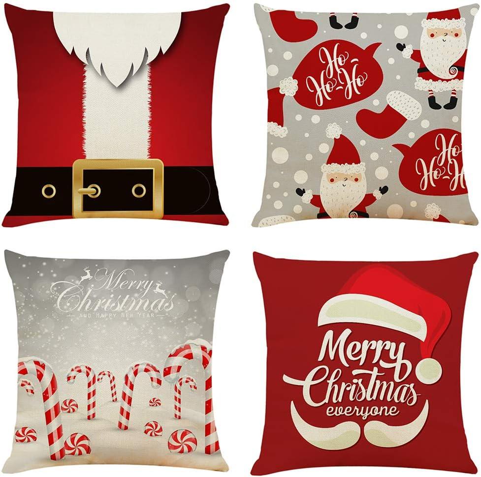 Santa Series Christmas Pillow covers